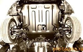 Установка защиты картера двигателя