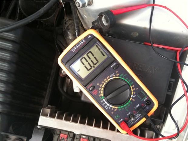 проверка состояния аккумуляторной батареи
